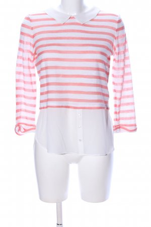 Tally Weijl Langarm-Bluse weiß-rot Streifenmuster Casual-Look