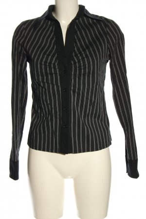 Tally Weijl Langarm-Bluse schwarz-weiß Streifenmuster klassischer Stil