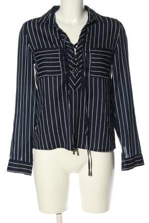 Tally Weijl Langarm-Bluse blau-weiß Streifenmuster Casual-Look