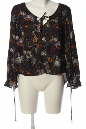 Tally Weijl Langarm-Bluse abstraktes Muster Casual-Look