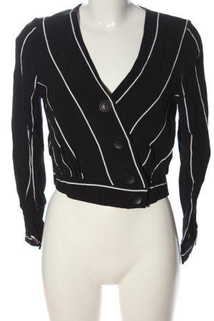 Tally Weijl Langarm-Bluse schwarz-weiß Streifenmuster Elegant
