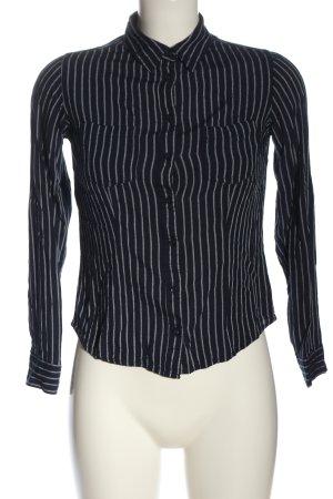 Tally Weijl Langarmhemd blau-weiß Streifenmuster Casual-Look
