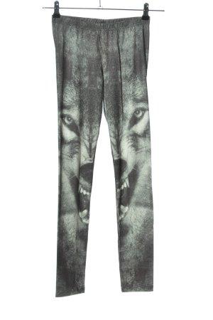 Tally Weijl Leggings grigio chiaro Stampa a tema stile stravagante
