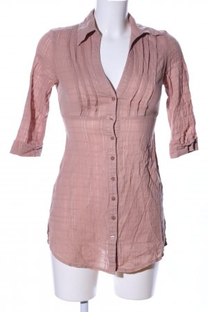 Tally Weijl Long-Bluse nude Karomuster Casual-Look