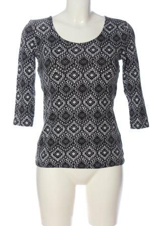 Tally Weijl Top à manches longues noir-blanc motif abstrait style décontracté