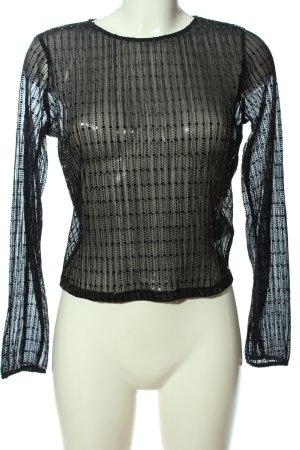 Tally Weijl Transparenz-Bluse schwarz Streifenmuster Elegant