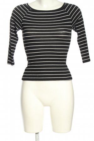 Tally Weijl Longsleeve schwarz-weiß Streifenmuster Casual-Look