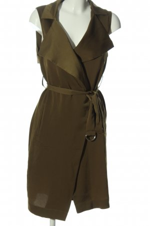 Tally Weijl Długa dzianinowa kamizelka khaki W stylu casual