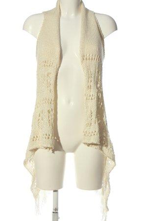 Tally Weijl Gilet long tricoté blanc cassé style décontracté
