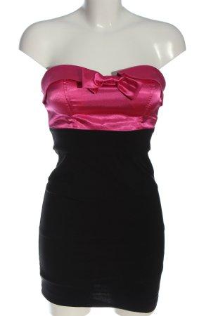 Tally Weijl Mini vestido negro-rosa elegante
