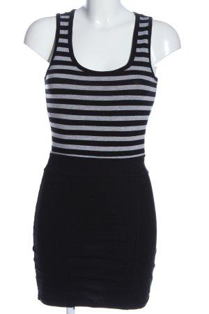 Tally Weijl Minikleid schwarz-hellgrau Streifenmuster Casual-Look