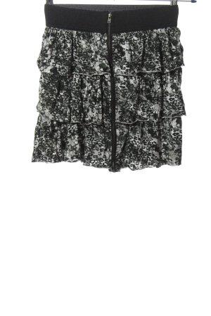 Tally Weijl Minirock schwarz-weiß Allover-Druck Casual-Look