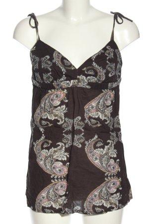 Tally Weijl Blouse topje bruin-wit prints met een thema elegant