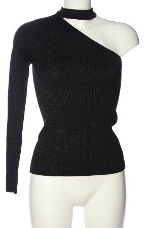 Tally Weijl One-Shoulder-Shirt schwarz Elegant