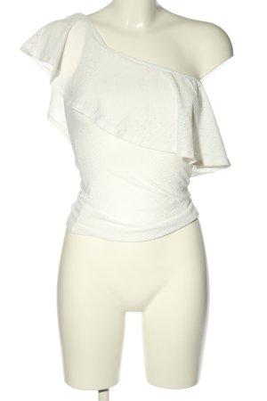 Tally Weijl Haut avec une épaule dénudée blanc style décontracté