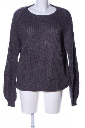 Tally Weijl Oversized Pullover hellgrau Zopfmuster Casual-Look