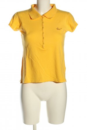 Tally Weijl Polo-Shirt blassgelb Casual-Look