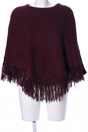 Tally Weijl Poncho rojo moteado look casual
