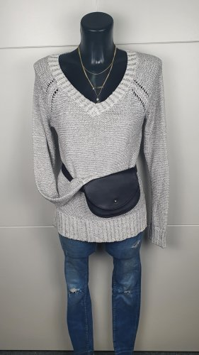 Tally Weijl Pullover V- Ausschnitt  xs M 38 S grau Strick Oberteil