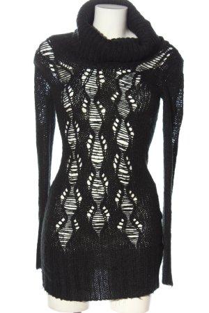 Tally Weijl Swetrowa sukienka czarny W stylu casual