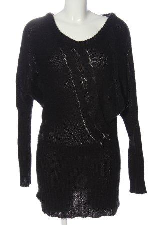 Tally Weijl Swetrowa sukienka czarny Warkoczowy wzór W stylu casual