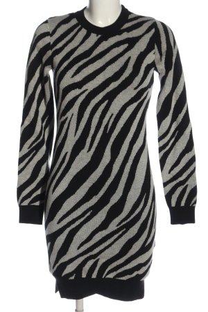 Tally Weijl Swetrowa sukienka jasnoszary-czarny Na całej powierzchni