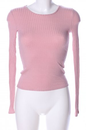 Tally Weijl Rippshirt pink Casual-Look