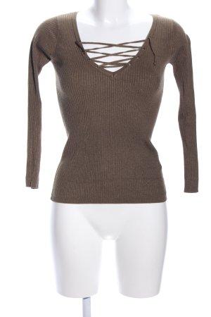 Tally Weijl Rippshirt bronzefarben meliert Casual-Look