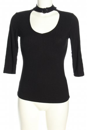 Tally Weijl Geribd shirt zwart casual uitstraling