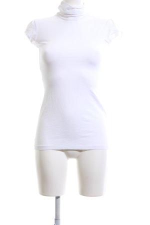 Tally Weijl Camisa de cuello de tortuga blanco look casual