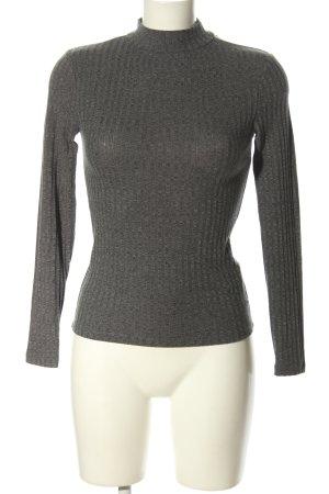 Tally Weijl Turtleneck Shirt light grey flecked casual look