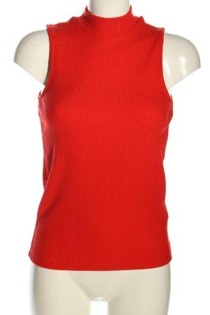 Tally Weijl Top con colletto arrotolato rosso stile casual