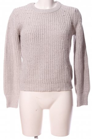 Tally Weijl Rundhalspullover creme Zopfmuster Casual-Look