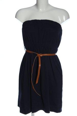 Tally Weijl Sukienka bez ramiączek niebieski-brązowy W stylu casual