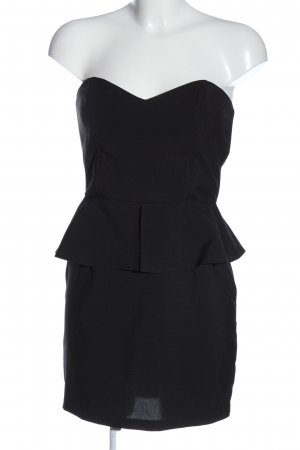 Tally Weijl Vestido strapless negro moteado look casual