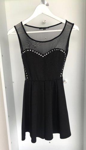 Tally Weijl - Schwarzes Minikleid mit transparentem Stoff an Dekolleté & Rücken