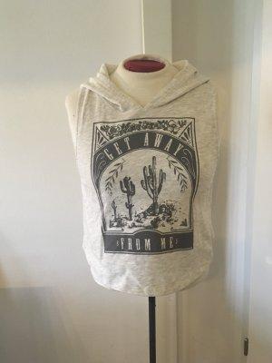 Tally Weijl Hooded Shirt light grey-grey