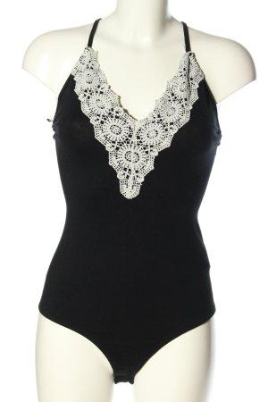 Tally Weijl Shirtbody zwart-wit casual uitstraling