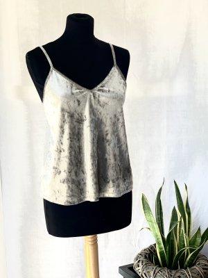 Tally Weijl Top con bretelline argento-grigio chiaro
