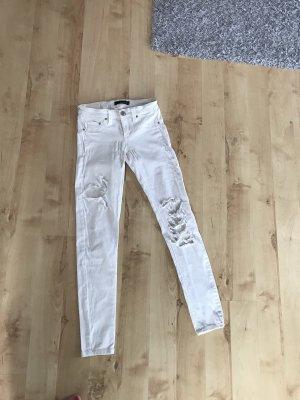 Tally Weijl Pantalón de tubo blanco puro