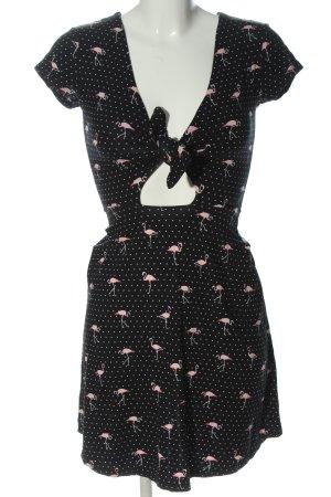 Tally Weijl Sommerkleid schwarz-weiß Motivdruck Casual-Look