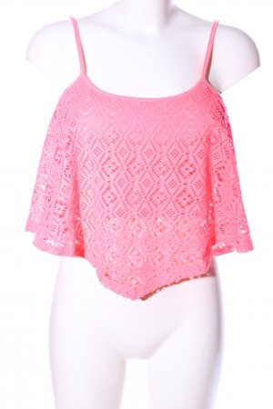 Tally Weijl Spitzentop pink Casual-Look