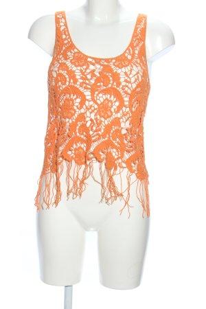 Tally Weijl Lace Top light orange casual look