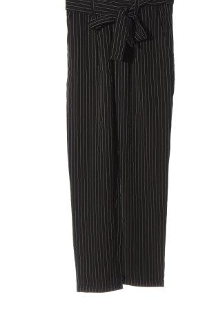 Tally Weijl Stoffhose schwarz-weiß Streifenmuster Business-Look