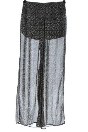 Tally Weijl Stoffhose schwarz-weiß Allover-Druck Elegant