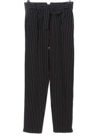 Tally Weijl Stoffhose schwarz-wollweiß Streifenmuster Casual-Look