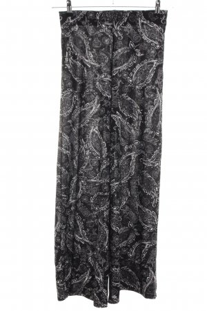 Tally Weijl Stoffhose schwarz-weiß abstraktes Muster Casual-Look