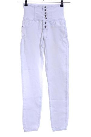 Tally Weijl Straight-Leg Jeans weiß Casual-Look