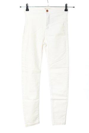 Tally Weijl Jeans stretch blanc style décontracté