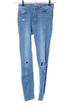 Tally Weijl Stretch Jeans blue street-fashion look